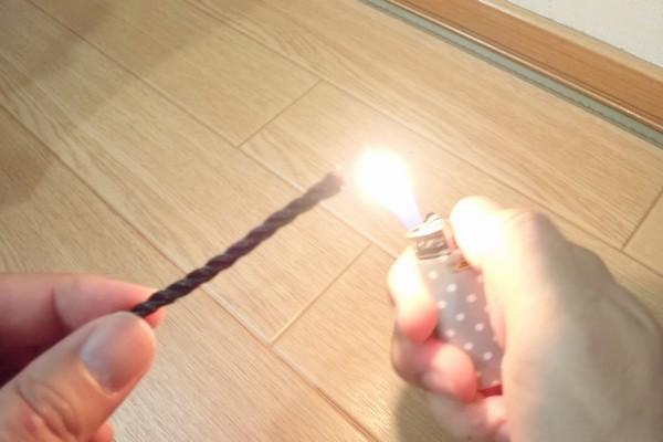 SiSO-LAB☆TAKAMIYA H.B CONCEPT 活かし水くみ ブラック 21cm。ロープはエイトノットで結びなおし。ライターで末端処理。