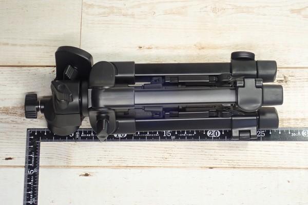 SiSO-LAB☆ベルボン ミニ三脚 EX-Mini S。全長約26cm。