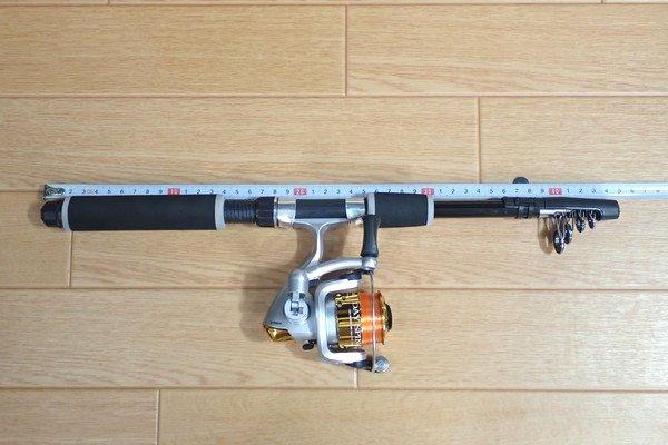 SiSO-LAB☆激安 釣り竿&リールセット。プロマリン DX 165。仕舞寸測定。