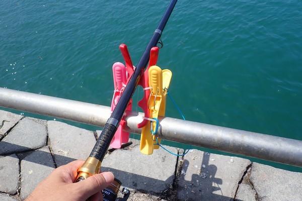 SiSO-LAB☆100均グッズで釣り竿ホルダー自作。第1弾。