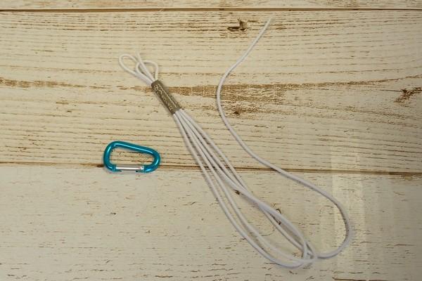 SiSO-LAB☆100均グッズで釣り竿ホルダー自作。第2弾、落下防止ワイヤー取付け。
