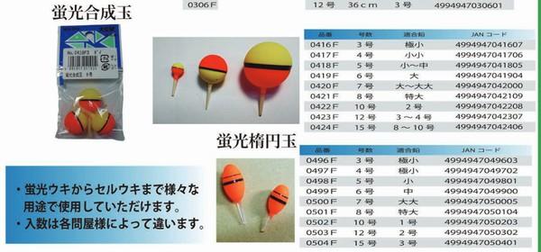 SiSO-LAB☆釣り、ウキの号数の意味は?ウメヅ製品カタログ。