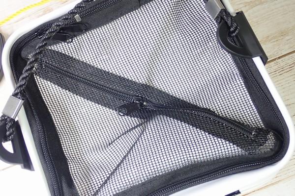 SiSO-LAB☆釣り用に白い折りたたみバケツ購入。メッシュ付きなので魚を入れたまま水くみ可能。