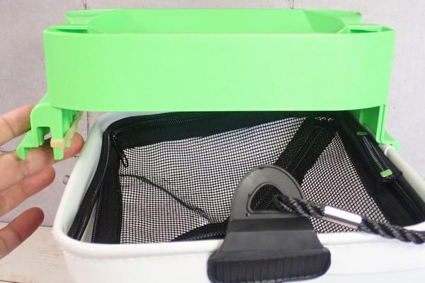 SiSO-LAB☆釣り用に白い折りたたみバケツ購入。モリゲン エサつけ名人と組み合わせてみる。