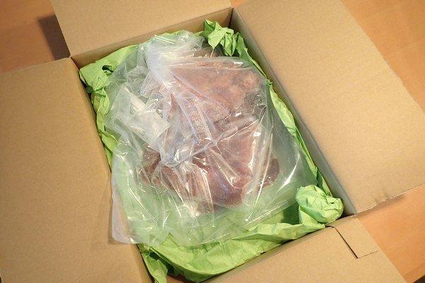 SiSO-LAB☆ふるさと納税・大分県国東市・鹿肉セット。中はお肉屋さんっぽい。