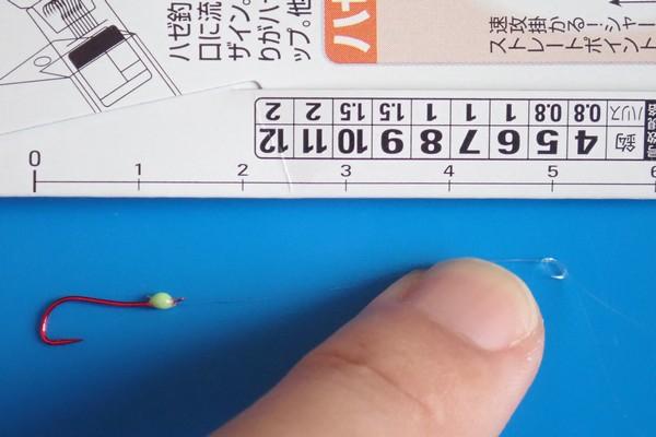 SiSO-LAB☆ハゼ釣り、塙式仕掛けをちょっとアレンジ。ハリス付き針で簡単に作る塙式。