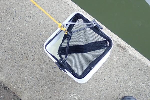 SiSO-LAB☆ハゼ釣り、塙式仕掛けをちょっとアレンジ。ハリス付き針で簡単に作る塙式。Fine Japanの水くみ&活かしバケツ。