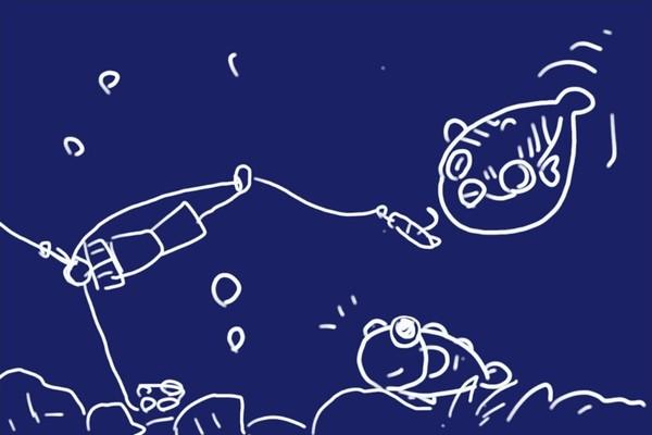 SiSO-LAB☆ハゼ釣り、チョイ投げ、ミャク釣りの融合、広域ミャク釣り仕掛け妄想。試作4号、半々遊動ハリス。