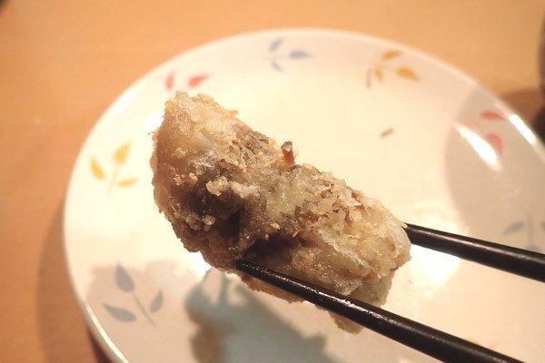 SiSO-LAB☆ニギス安売り第2弾。ロール揚げ、止めるのはスパゲティで。