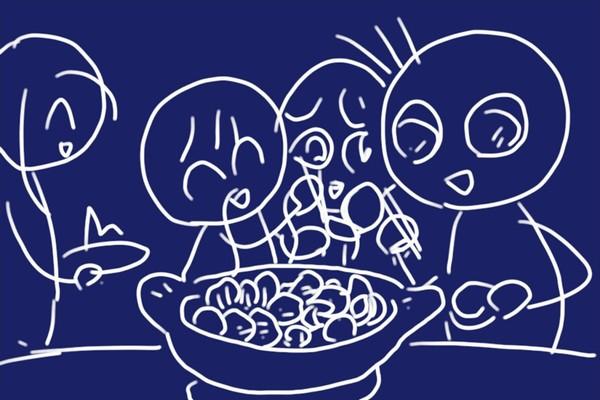 ジビエ鹿肉セットの大きなミートボールで、トマトスープを使った洋風鍋。ボリュームがあっていい感じ!