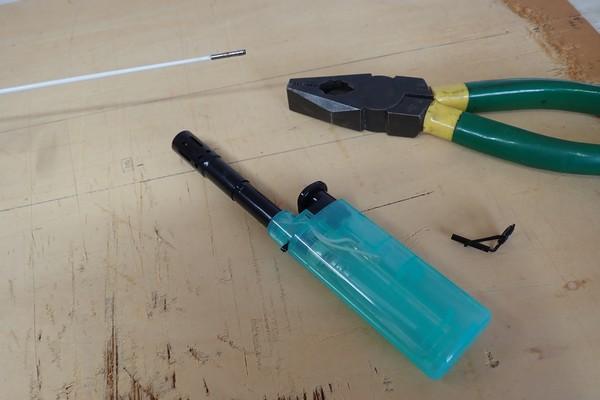SiSO-LAB☆釣・ダイソーのジグロックで初めてのルアーフィッシング。ロッドのトップガイド破損。修理。
