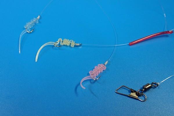 SiSO-LAB☆釣・100均グッズ改造でジグサビキ自作。セリアのヘア輪ゴムでワームづくり。