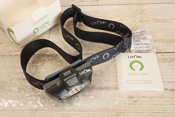 SiSO-LAB☆Litomヘッドライト、単三電池1本。アマゾンで購入。開封の儀。
