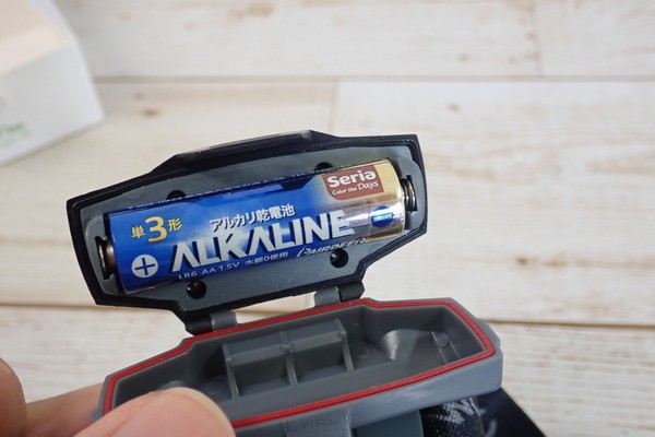 SiSO-LAB☆Litomヘッドライト、単三電池1本。電池ケース。防水。