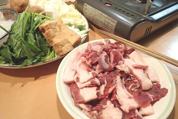 SiSO-LAB☆ジビエ、猪肉ですき焼き。すき焼き食材。