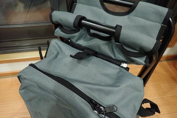 SiSO-LAB☆キャンパーズコレクション リュックチェア CLSB-01。チェア、バッグ結合部。