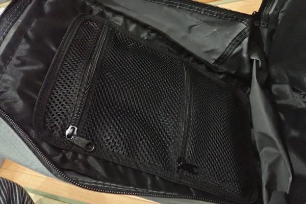 SiSO-LAB☆キャンパーズコレクション リュックチェア CLSB-01。バッグ内部には2つのメッシュポケット。