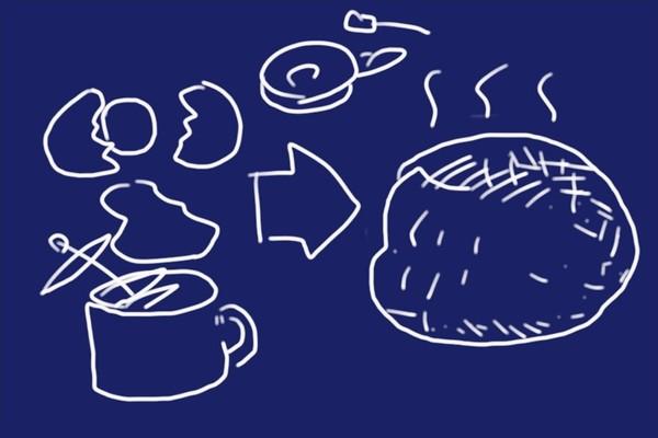 SiSO-LAB☆100均ダイソーグッズでモンサンミッシェル風のふわふわオムレツを作る。