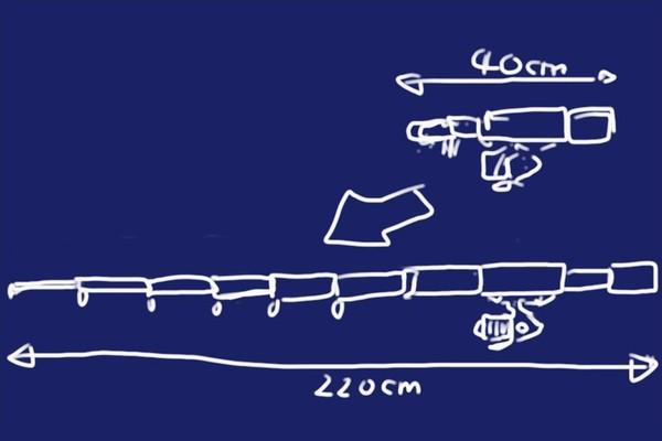 中華ノーブランド釣り竿2.1M(仕舞寸法40cm!)開封の儀的レビューと実際に釣りに行ってみたよ!なんか、へんな魚が釣れた…。