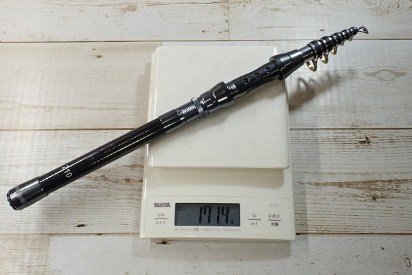 SiSO-LAB☆中華ノーブランド2.1M振り出し竿。重さは171g。