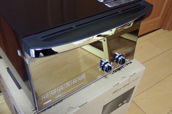 SiSO-LAB☆TWINBIRD オーブントースター TS-D047B。ミラーの扉がきれい。