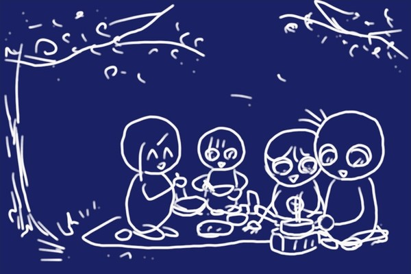 SiSO-LAB☆花見でESBITポケットストーブとチヌークのフライパンで温かい一品調理。