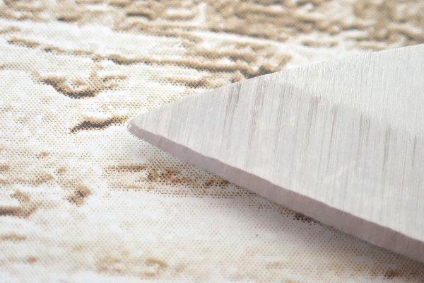 SiSO-LAB☆100均・小出刃包丁、切っ先トリム&研ぐ。切っ先が丸いのがちょっと難点。
