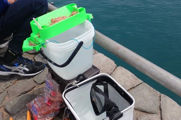 SiSO-LAB☆サビキ釣り、SiSO家標準装備、モリゲン・エサつけ名人。