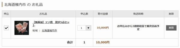 SiSO-LAB☆ふるさと納税 北海道稚内市エゾ鹿肉5点セット。3週間ぐらいで発送予定。