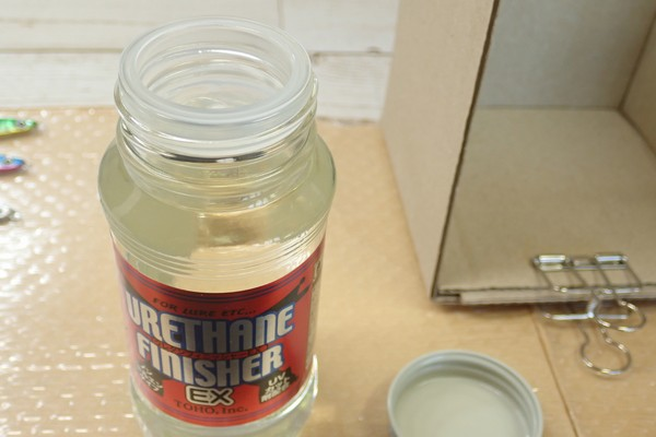 SiSO-LAB☆東邦産業 ウレタンフィニッシャーEX。ダイソーのジグロック、コーティング。いよいよドブ漬け。