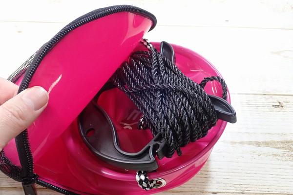 SiSO-LAB☆釣・小さな水汲みバケツ、かなり便利。タカミヤ Smile Ship カバー付き水汲みバケツ。ロープもいい感じに真ん中にケース内収納。