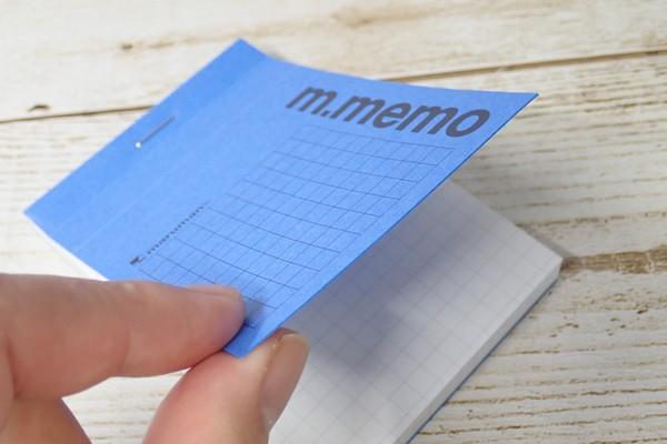 SiSO-LAB☆RHODIAにそっくりなダイソーm.memo。表紙は厚手で普通のメモ用紙とはちょっと違うよ。
