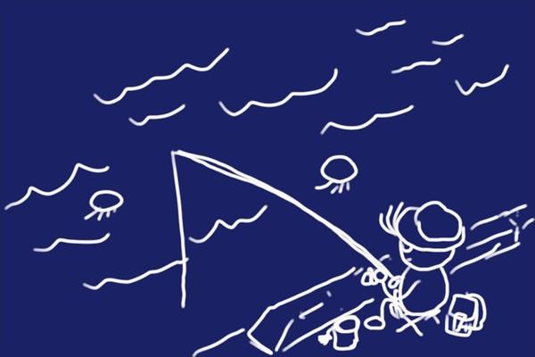 サビキ釣り(エサ無し)で18cmの小サバ8匹とその他。RISEWAY 白スキンサビキ 3枚組 5号、なかなか快調。