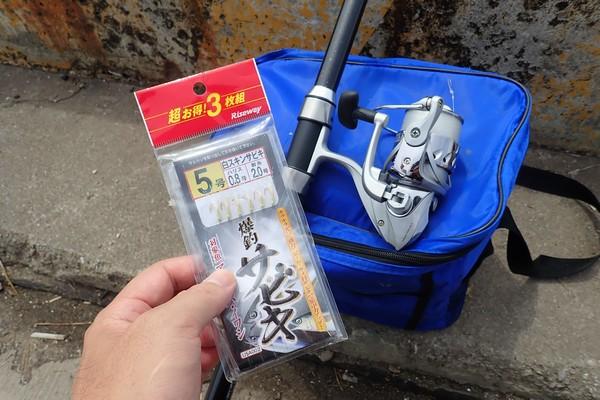 SiSO-LAB☆釣り。RISEWAY白スキン5号で小サバ釣り。