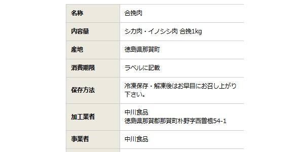 SiSO-LAB☆ふるさと納税 阿波ジビエ 徳島県那賀町産シカ肉 ・イノシシ肉の合挽ミンチ 1kg。寄附金1万円でたっぷり1kg。