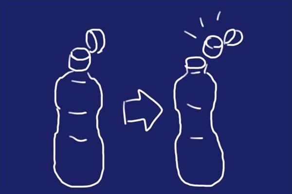 SiSO-LAB☆調味料のキャップとペットボトルを分離。