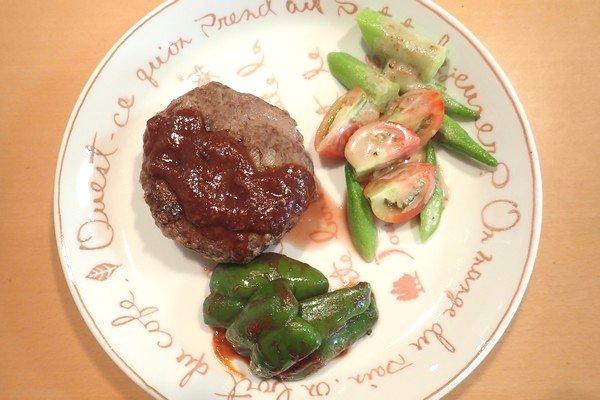 SiSO-LAB☆iふるさと納税ジビエ、シカ肉&イノシシ肉合挽ミンチでハンバーグ。出来上がり。