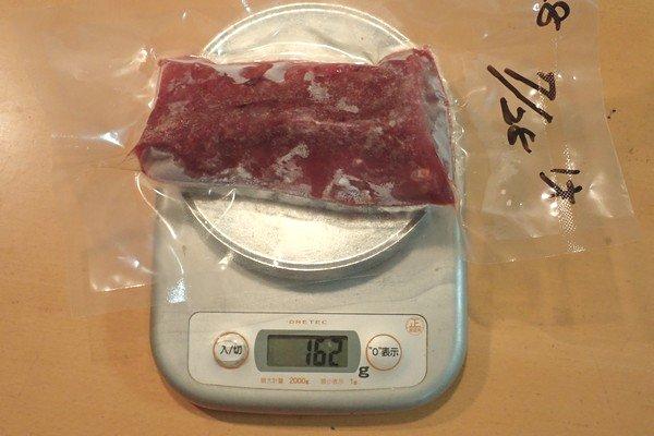SiSO-LAB☆ふるさと納税・ジビエ・岐阜県山県市・シカ肉約1.1kg。シカ肉ブロックは先方の都合か2パック分け。でも量的にはお得感。