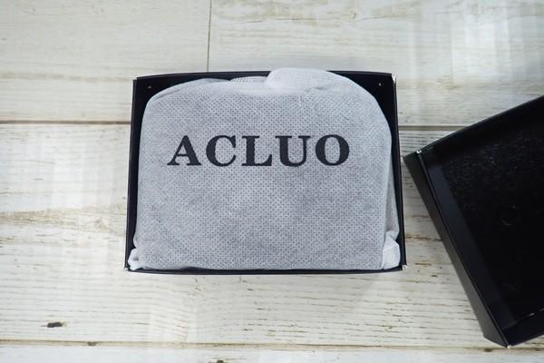 SiSO-LAB☆Amazon ACLUO コインケース購入。パッケージの中。小銭入れは袋に入っている。ちょっと高級感。