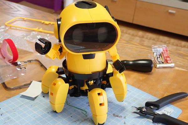 SiSO-LAB☆エレキット MR-9107 フォロ。腕を取り付けて完成。
