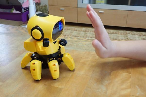 SiSO-LAB☆エレキット MR-9107 フォロ。なかよしモード。手を近づけるとバックする。
